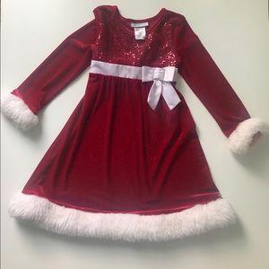 Little girls 6/6x Christmas dress